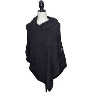 Sonoma black poncho sweater size large/XL